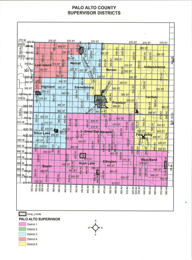Palo Alto Co Supervisor Districts